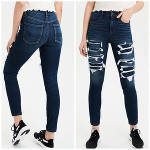 AEO Destroy Next Level High Rise Jegging Jeans
